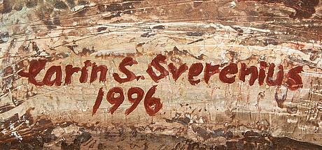 Karin sverenius holm, olja på pannå signerad och daterad 1996.