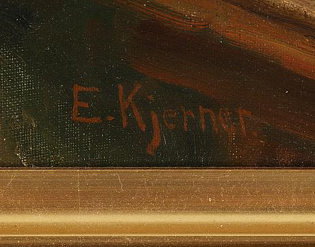 Esther kjerner, oil on canvas, signed.