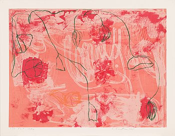 Leena Luostarinen, lithograph, signed and dated 1995, numbered 13/3 Tait. vedos.