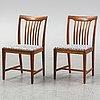 Svante skogh, a set of eight chairs from vindö balder möbler, vaggeryd, second half of the 20th century.