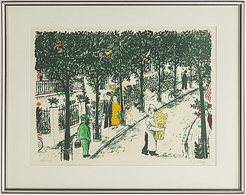 Lennart Jirlow, ithograph in colours, 1984. signed182/480.