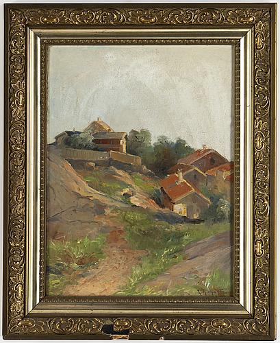 Ludvig richarde, oil on panel, signed.