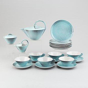 A 15-piece ceramic tea/coffee service, signed Tokio, second half of the 20th Century.