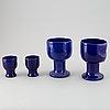 Lisa larson, a set of four stonware vases from gustavsberg.