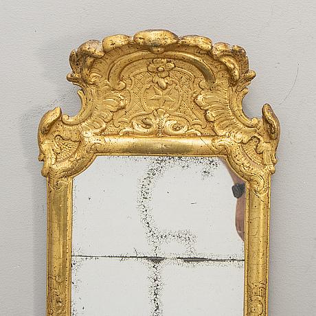 A swedish gilded rococo mirror mid 1700s.