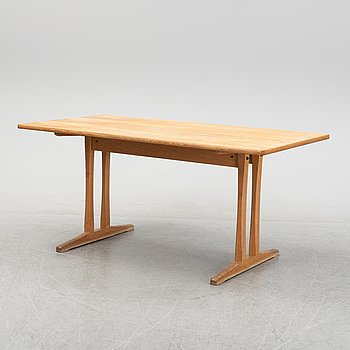 """Børge Mogensen, an oak """"Shaker table"""" dining table, concieved 1958."""
