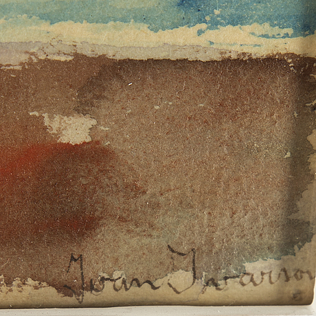 Ivan ivarson, watercolour, signed.