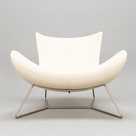 Henrik pedersen, a leather covered 'imola' lounge chair for boconcept.
