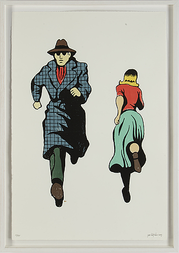 Jan håfström, silkscreen in colours, signed and dated 2009, numbered 23/25,