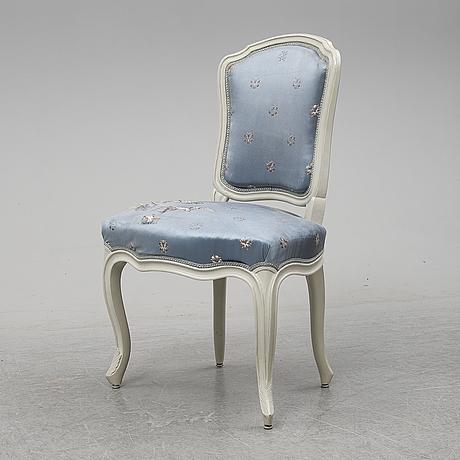 A mid 18th century rococo chair.