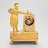 A french le roy 'a paris mantel clock, circa 1830s.