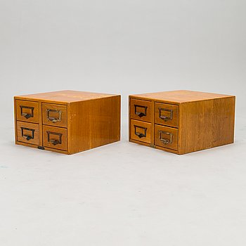 A pair of 1920-/30's index card filing boxes, Billnäs, Finland.