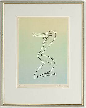 Man Ray, etching and aquatint in colours, signed and numbered 94/100.
