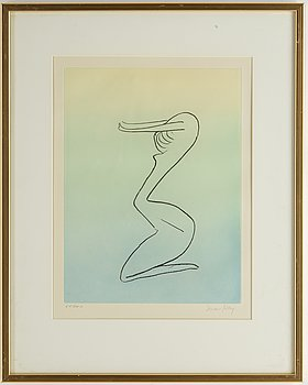 Man Ray, etching and aquatint in colours, signed and numbered 66/100.