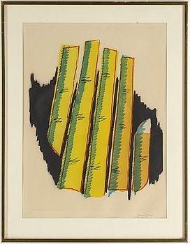Man Ray, färgakvatint, signerad och numrerad 63/99.
