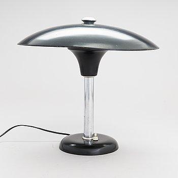 Max Schumacher, bordslampa, MWS (Metallwerk Werner Schröder) Lobenstein, Tyskland, 1930-tal.
