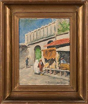 Hugo Backmansson, oil on canvas, signed.