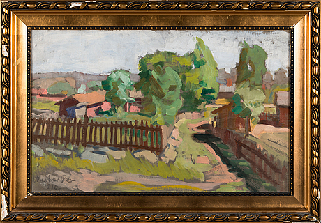 Weikko puro, oil on canvas, signed and dated 1910.
