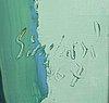 Nicola simbari, acrylic on canvas, signed 67.