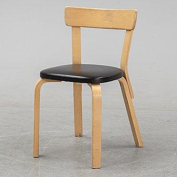 Alvar Aalto, a model 69 birch chair, Artek, Finland.