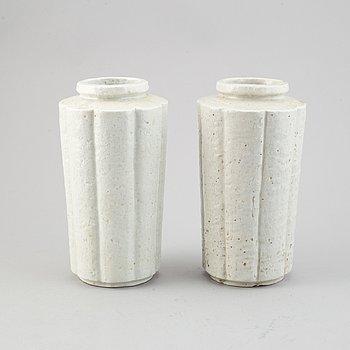 Gunnar Nylund, a pair of stoneware vases, Rörstrand.