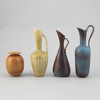 Gunnar Nylund, a set of four stoneware vases for Rörstrand.