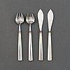 Claës e. giertta, twelve pieces of silver cutlery, 'paris', mema, lidköping, 1958.