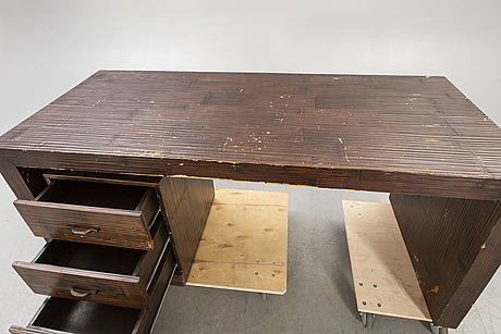 An italian bamboo desk later part of the 20th entury.