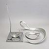 Okänd konstnär, skulptur / mobil i 3 delar, märkt, 1900-talets mitt / senare del.