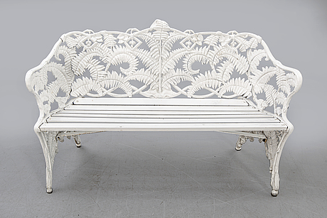 A painted metal garden sofa second half of the 20th century.