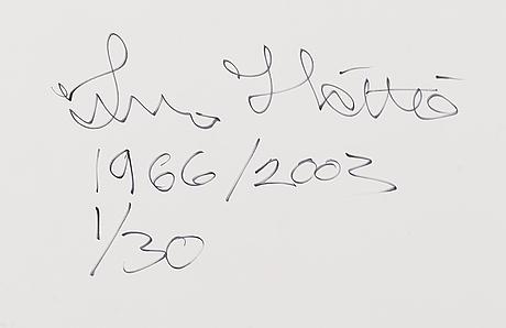 Ismo hölttö, photograph, lambda print 1/30, signed a tergo.