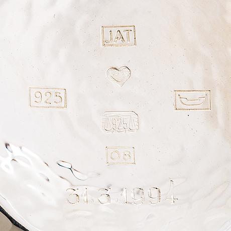 Skål, sterlingsilver, j.a. tarkiainen, helsingfors 1991.
