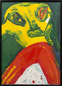 Bengt Lindström, lithograph in colours signed and numbered 62/200.
