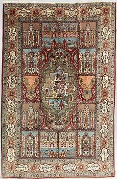 A carpet, semi-antique Tabriz, ca 295 x 190 cm.