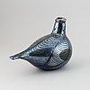 A glass bird by oiva toikka, nuutajärvi.