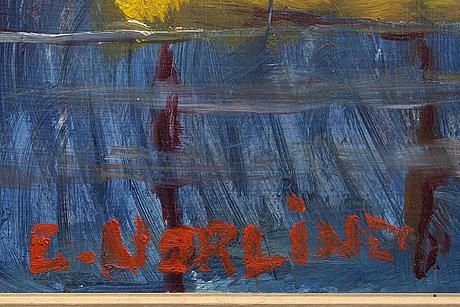 Ernst norlind, oil on panel, signed.