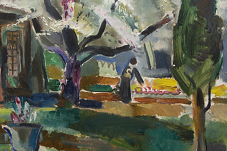 Jules schyl, oil on canvas, signed.