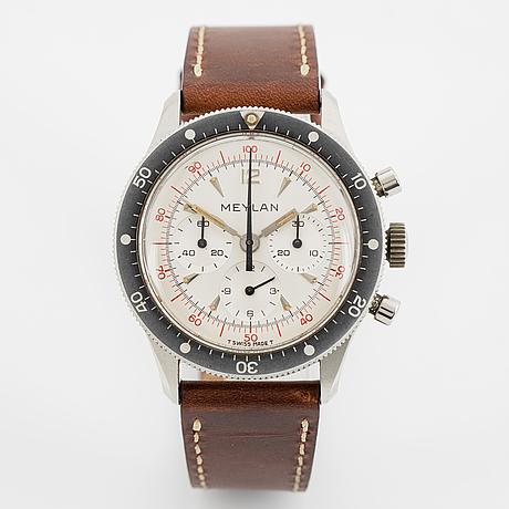 Meylan, kronograf, armbandsur, 39 mm.