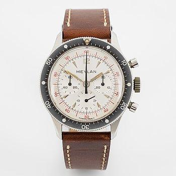 Meylan, chronograph, wristwatch, 39 mm.