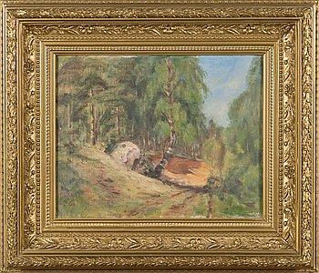 Elias Muukka, oil on canvas, signed and dated-26.