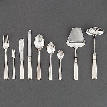 Jacob Ängman, a 52-piece silver cutlery, GAB, including Stockholm and Eskilstuna, 1950 and 1999.