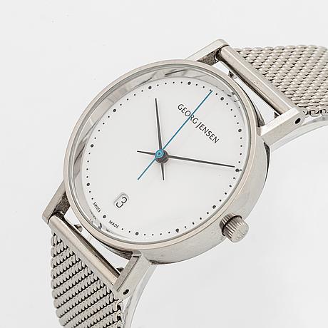 Georg jensen, design henning koppel, wristwatch, 32 mm.