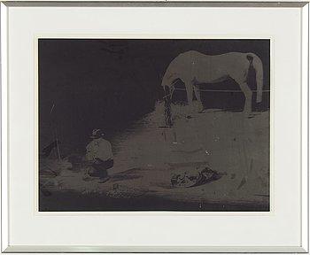Joseph Beuys, silkscreen on PVC foil, indistinctly signed.