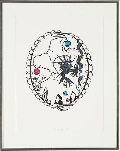 Meyer vaisman, silkscreen, numbered 37/40, signed and dated 90.