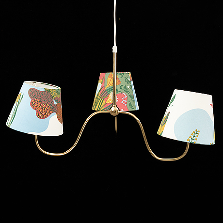 A brass ceiling lamp, model 2444, by josef frank, firma svenskt tenn.