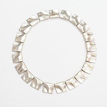 "Björn Weckström, A sterling silver necklace ""Galactic peaks"". Lapponia 1978."