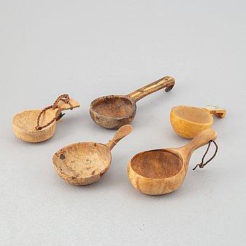 Five Sami birch cups.