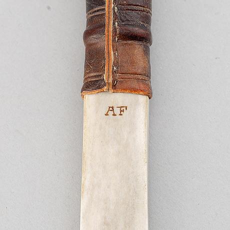 Anders fankki, samekniv, signerad af.