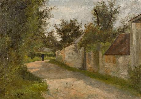 Julia stigzelius-de cock, öljy kankaalle, signeerattu ja päivätty 1883.