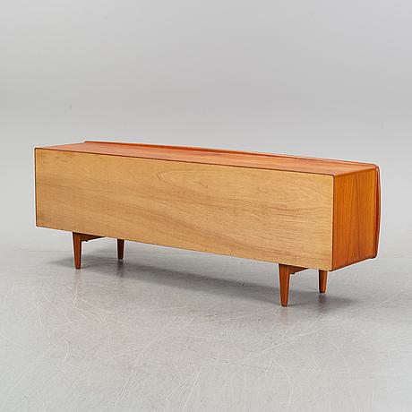 A teak veneered sideboard by h.p hansen, imha, denmark, second half of the 20th century.